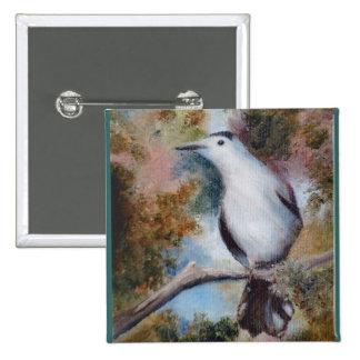 Botón del Catbird gris Pins