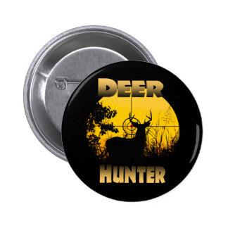 Botón del cazador de los ciervos pin redondo de 2 pulgadas