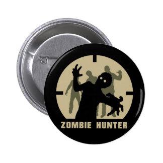 botón del cazador del zombi