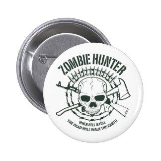 Botón del cazador del zombi pin redondo de 2 pulgadas