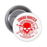 Botón del cazador del zombi pins