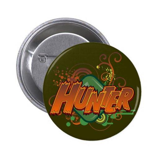 Botón del cazador pin