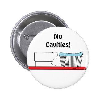 "Botón del ""cepillo de dientes"" pin redondo de 2 pulgadas"