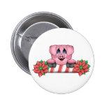 Botón del cerdo del navidad pin