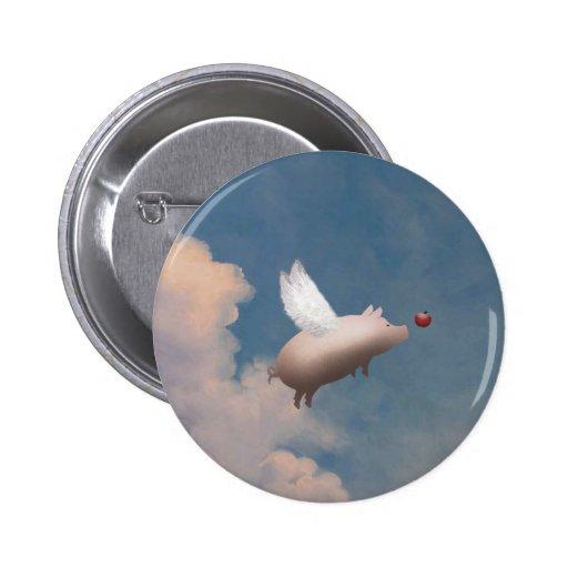 botón del cerdo del vuelo pin redondo de 2 pulgadas