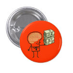 Botón del cerebro del libro pins