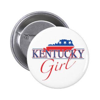 Botón del chica de Kentucky Pin