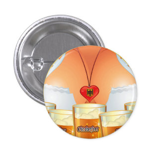 Botón del chica de la camarera de Oktoberfest Pin