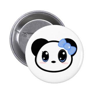 Botón del chica de la panda de Chibi Pins