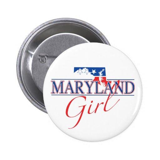 Botón del chica de Maryland Pins