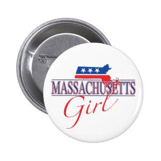 Botón del chica de Massachusetts Pin
