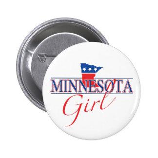Botón del chica de Minnesota Pins