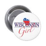 Botón del chica de Wisconsin Pin