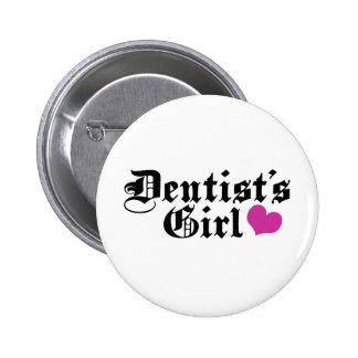 Botón del chica del dentista pin redondo de 2 pulgadas