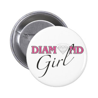 Botón del chica del diamante pins