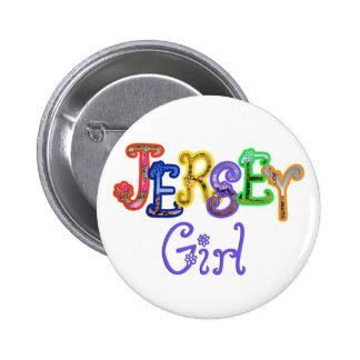 Botón del chica del jersey pin redondo de 2 pulgadas