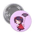 Botón del chica del palo pin