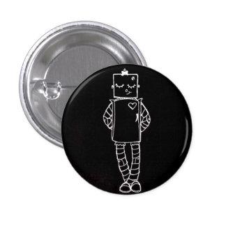 Botón del chica del robot pin redondo de 1 pulgada