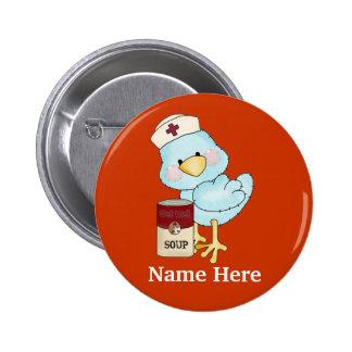 Botón del chirrido de la enfermera pin redondo de 2 pulgadas