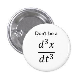botón del chiste del cálculo/de la física pins