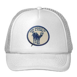Botón del chiste del kitsch del vintage que quiere gorras de camionero