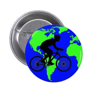 Botón del ciclista pin redondo de 2 pulgadas