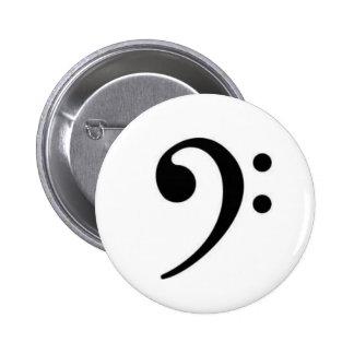 Botón del Clef bajo Pin