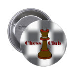 Botón del club de ajedrez o del equipo del ajedrez pin