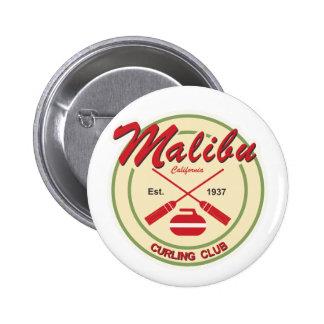 Botón del club de Malibu que se encrespa Pin Redondo De 2 Pulgadas