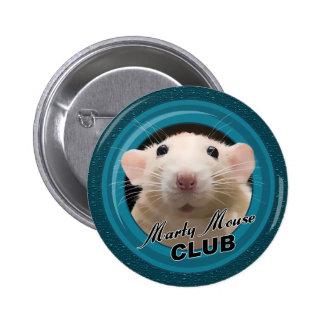 Botón del club del ratón de Marty Pins