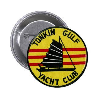 Botón del club náutico del golfo de Tonkin Pin Redondo De 2 Pulgadas