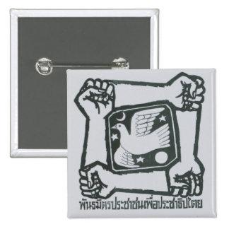 Botón del COJÍN - gris Pins