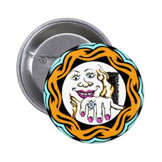 Botón del compromiso pin redondo de 2 pulgadas