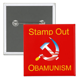 Botón del comunismo del martillo y de la hoz de Ob Pins