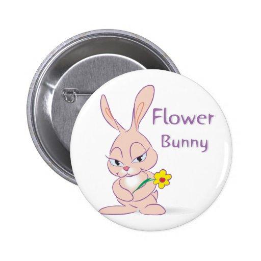 Botón del conejito de la flor pins