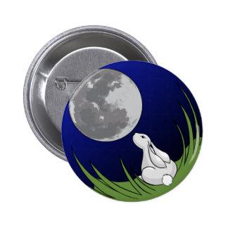 Botón del conejito de la luna pins