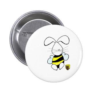 Botón del conejito de la miel pin