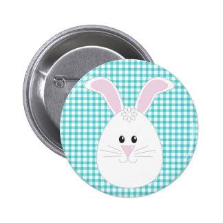 Botón del conejo de la guinga pin redondo de 2 pulgadas