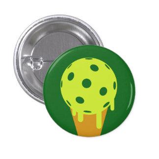 Botón del cono de helado del verano de Pickleball Pin Redondo De 1 Pulgada