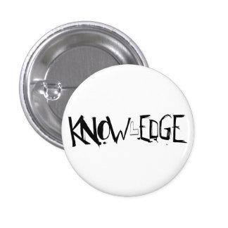 ¡Botón del conocimiento! Pin Redondo De 1 Pulgada