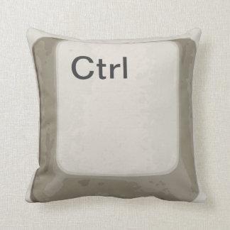Botón del control/Ctrl/llave - blanco/gris Cojín Decorativo
