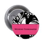 Botón del coordinador del boda de HP&B Pins