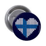 Botón del corazón de Sisu Pin