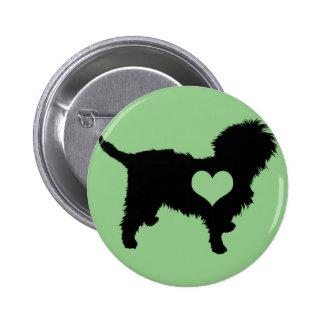 Botón del corazón del Affenpinscher Pin Redondo De 2 Pulgadas