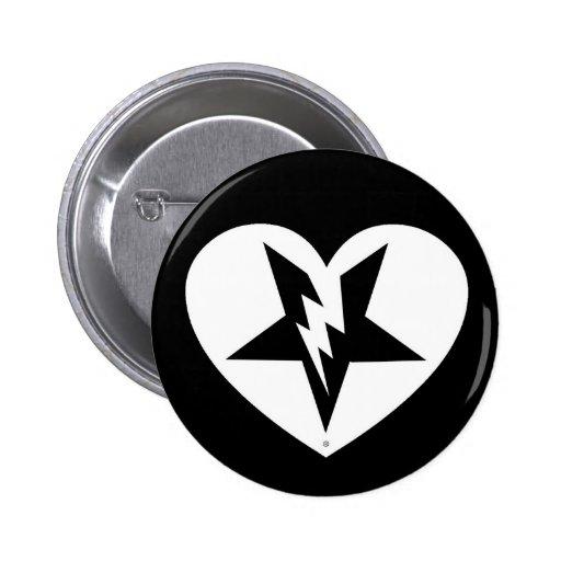 botón del corazón quebrado pins