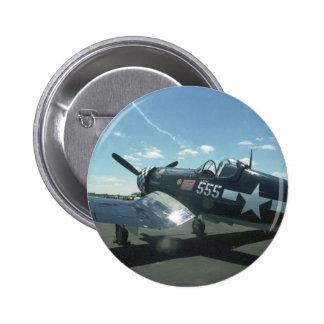 Botón del corsario F4U-1 Pin Redondo De 2 Pulgadas