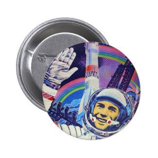Botón del cosmonaute de Yuri Gagarin Pin Redondo De 2 Pulgadas