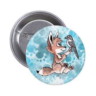 Botón del coyote y de la urraca pins