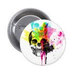 Botón del cráneo de CMYK Pin