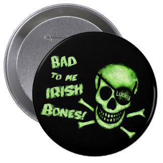 Botón del cráneo del pirata del día de St Patrick Pins